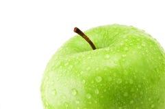 Detalle verde de la manzana Imagen de archivo