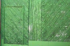 Detalle verde de la puerta Imágenes de archivo libres de regalías