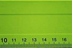 Detalle verde de la regla Imagen de archivo