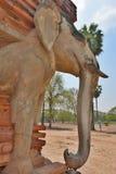 detalle Wat Sorasak Parque histórico Sukhothai tailandia Foto de archivo