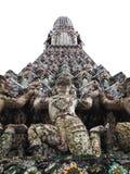Detalles aislados de la pagoda Wat Arun, Bangkok Imagen de archivo libre de regalías