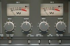 Detalles analogicos de la máquina de cinta Imagenes de archivo