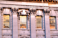 Detalles arquitectónicos de Greenwich de la escuela naval Fotos de archivo