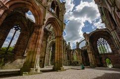 Detalles arquitectónicos de la abadía de la colada Imagenes de archivo