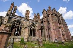 Detalles arquitectónicos de la abadía de la colada Foto de archivo libre de regalías
