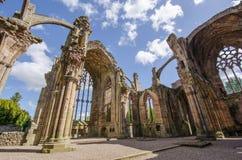 Detalles arquitectónicos de la abadía de la colada Imagen de archivo libre de regalías