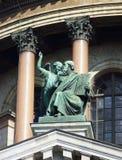 Detalles arquitectónicos de la catedral de Isaac del santo en St Petersburg Rusia Imagenes de archivo