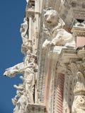 Detalles arquitectónicos de la catedral en Siena Toscana Imagen de archivo libre de regalías