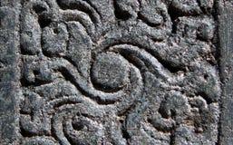 Detalles arquitectónicos de las tallas de piedra en templo hindú antiguo Fotos de archivo libres de regalías