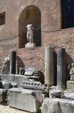 Detalles arquitectónicos de los baños de Diocletian Fotos de archivo