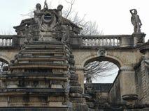Detalles arquitectónicos del ámbito nacional del monumento de Saint Cloud la gran cascada en Francia fotografía de archivo