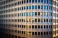Detalles arquitectónicos del downto admitido edificio de Brandywine fotos de archivo