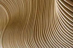 Detalles arquitectónicos del edificio de la asamblea Galés Tablones de madera de fuentes sostenibles Diseño respetuoso del medio  foto de archivo libre de regalías