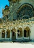 Detalles arquitectónicos del edificio viejo del casino en Constanta, Rumania foto de archivo