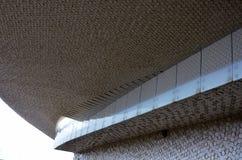 Detalles arquitectónicos del terminal moderno de la travesía foto de archivo