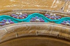 Detalles arquitectónicos en un edificio histórico en Timisoara, romano fotografía de archivo