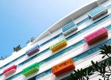 Detalles arquitectónicos, hotel moderno Imagen de archivo