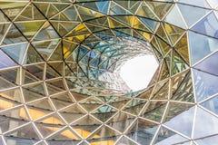 Detalles arquitectónicos de la alameda de compras de MyZeil en Francfort Imágenes de archivo libres de regalías