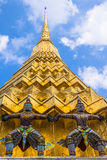 Detalles arquitectónicos de Wat Phra Kaew Imagen de archivo