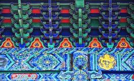 Detalles arquitectónicos del templo de Fayu Fotos de archivo libres de regalías