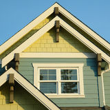 Detalles caseros del tejado de la casa Fotografía de archivo