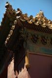 Detalles chinos del tejado imagen de archivo