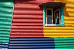 Detalles coloridos en el La Boca Imagen de archivo libre de regalías