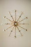 Detalles cristalinos de la lámpara del vintage Fotos de archivo libres de regalías