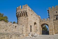 Detalles de accesos, de paredes y de torres Imagenes de archivo