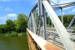 Detalles de acero del puente Imágenes de archivo libres de regalías