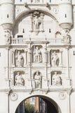 Detalles de Arco de Santa Maria, Burgos Fotografía de archivo