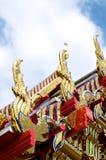 Detalles de Bangkok en el palacio magnífico Fotografía de archivo