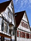 Detalles de casas enmaderadas Fotografía de archivo libre de regalías