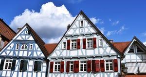 Detalles de casas enmaderadas Foto de archivo