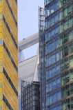 Detalles de edificios altos en Shangai Fotos de archivo libres de regalías
