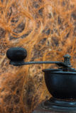 Detalles de la amoladora de café Fotos de archivo libres de regalías