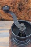 Detalles de la amoladora de café Fotografía de archivo libre de regalías