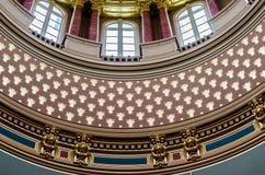 Detalles de la arquitectura, capitolio del primer del estado de Iowa Fotografía de archivo libre de regalías