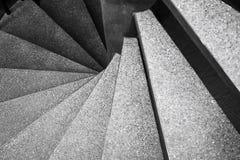 Detalles de la arquitectura de la escalera espiral Imagen de archivo