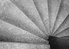 Detalles de la arquitectura de la escalera espiral Fotos de archivo