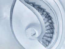 Detalles de la arquitectura de la escalera espiral Imagen de archivo libre de regalías