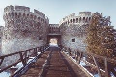 Detalles de la arquitectura de la fortaleza de Kalemegdan Imágenes de archivo libres de regalías