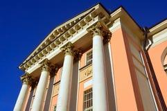 Detalles de la arquitectura de la iglesia antigua de c de St Barbara después de la reparación Calle de Varvarka, Moscú Imagenes de archivo