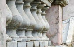 Detalles de la arquitectura del mármol y del granito de la barandilla Foto de archivo libre de regalías