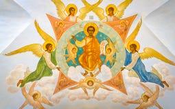Detalles de la arquitectura de puertas santas en Sergiyev Posad, Rusia Fotografía de archivo libre de regalías