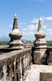 Detalles de la azotea de la catedral Imagenes de archivo