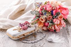 Detalles de la boda imágenes de archivo libres de regalías