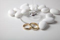 Detalles de la boda Foto de archivo