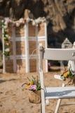 Detalles de la boda de playa Imagenes de archivo