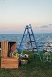 Detalles de la boda de playa Imágenes de archivo libres de regalías